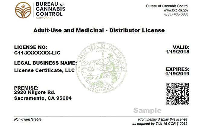 Cannabis business licenses